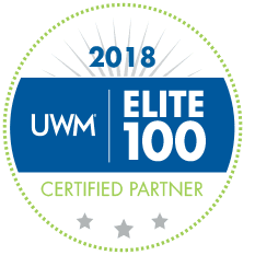 2018 Elite 100 Certified Partner badge United Wholesale Mortgage