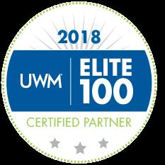 2018 Elite 100 Certified Partner badge United Wholesale Mortgage