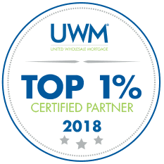 Top 1% Certified Partner 2018 UWM