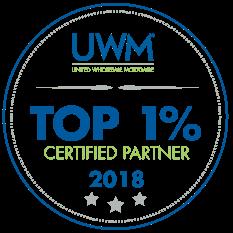 Top 1% Certified Partner 2018 UWM